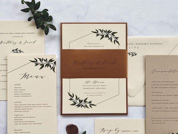 Tmx Copperneutrals Lores 900 51 168344 161600945289623 Wauwatosa, WI wedding invitation