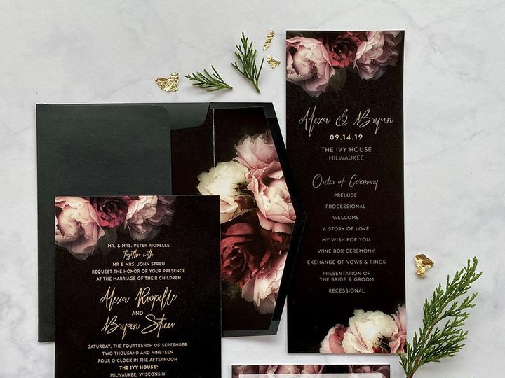 Tmx Darkgoldfoil Lores 900 51 168344 161600945323582 Wauwatosa, WI wedding invitation