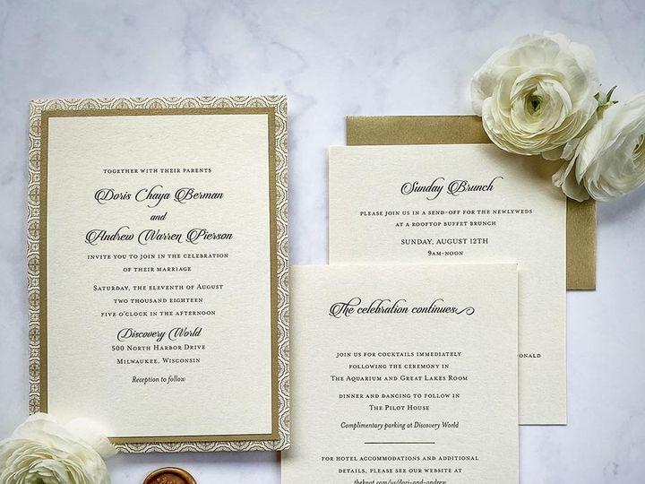 Tmx Discoveryworldgold Lores 900 51 168344 161600945015972 Wauwatosa, WI wedding invitation