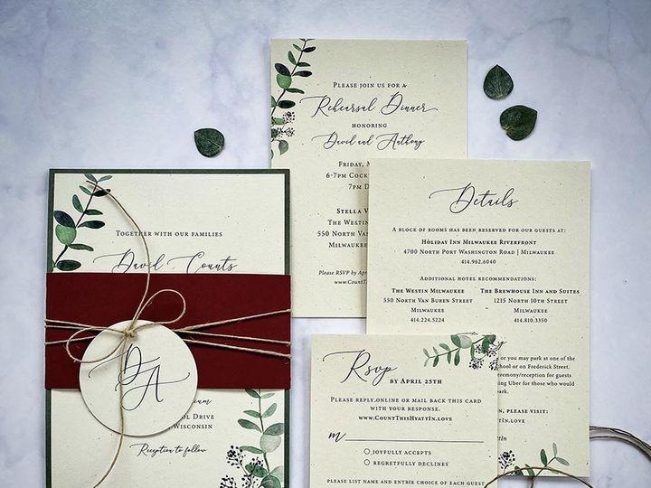 Tmx Rusticgreenery Lores 900 51 168344 161600945163106 Wauwatosa, WI wedding invitation