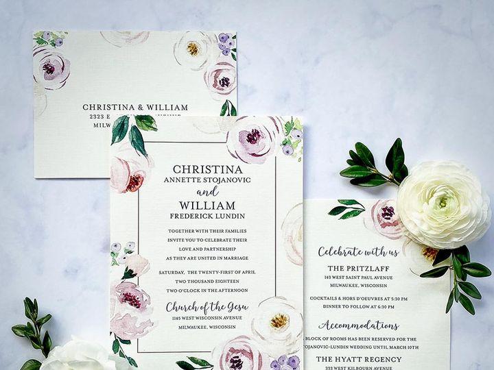 Tmx Softfloral Lores 900 51 168344 161600945021390 Wauwatosa, WI wedding invitation