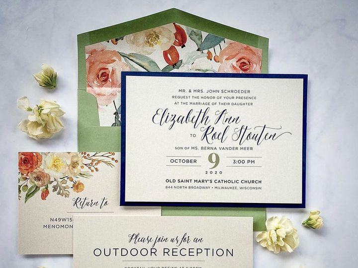Tmx Warmfloral Lores 900 51 168344 161600945181113 Wauwatosa, WI wedding invitation