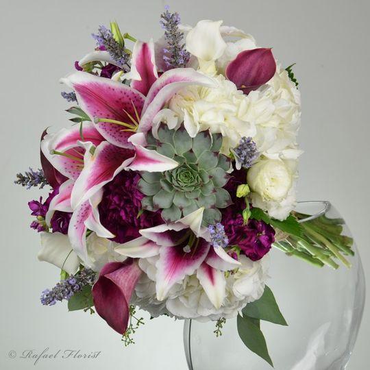 Stargazers bridal bouquet