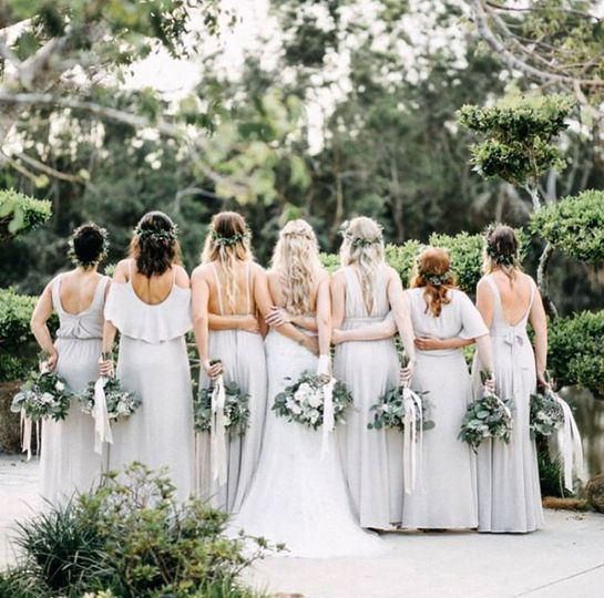 Boho Bride and besties