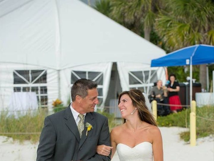 Tmx 1372787441160 Couple In The Sand In Front Of Tent Saint Petersburg, FL wedding venue