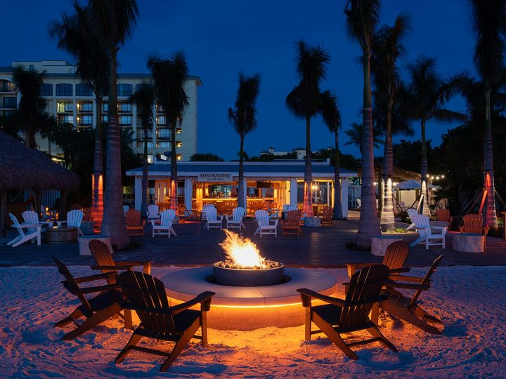 Tmx Sirata Beach Resort Rum Runners Beach Firepit Dusk 51 100444 159440924664826 Saint Petersburg, FL wedding venue