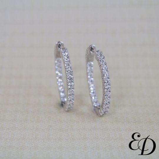 Exclusively Diamonds Signature Collection Inside-Out Diamond Earrings