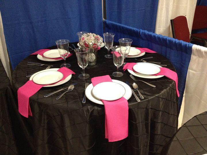 table 1 at bridal sho