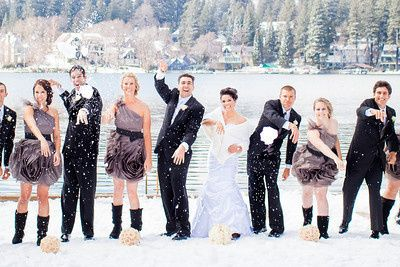 Snow day wedding