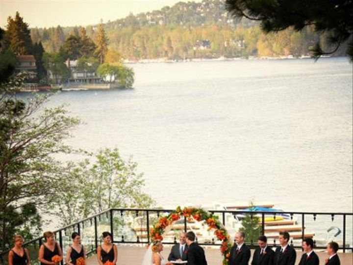 Tmx 1238084555328 CeremonyfromBalcony Lake Arrowhead, CA wedding venue