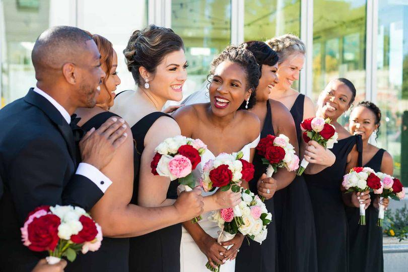 black bride laughing bridesmaids fort worth texas 51 362444 161886881172922