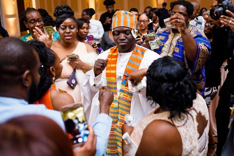 Groom's cultural wedding dance