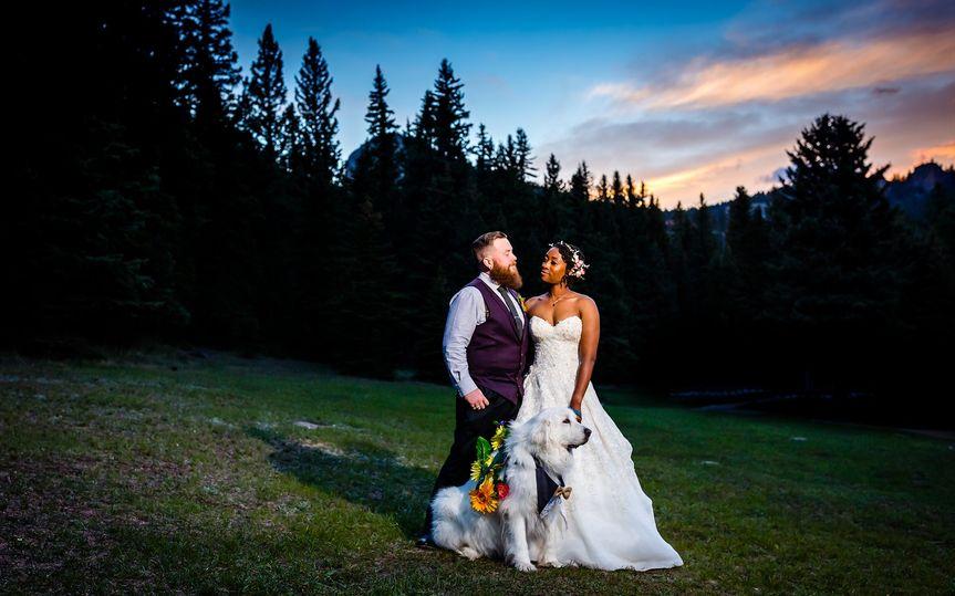 Bride & Groom Sunset Portrait