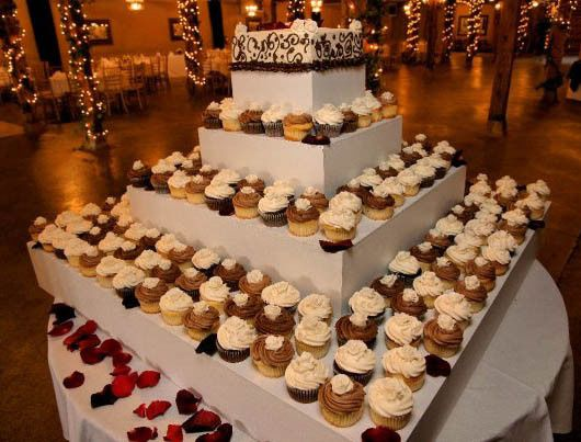 18 Dozen Fondant Rose topped Wedding Cupcakes