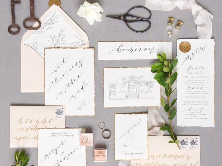 Tmx 1511911730984 Ssabilenafull Suite Styling 2 Chapel Hill wedding invitation