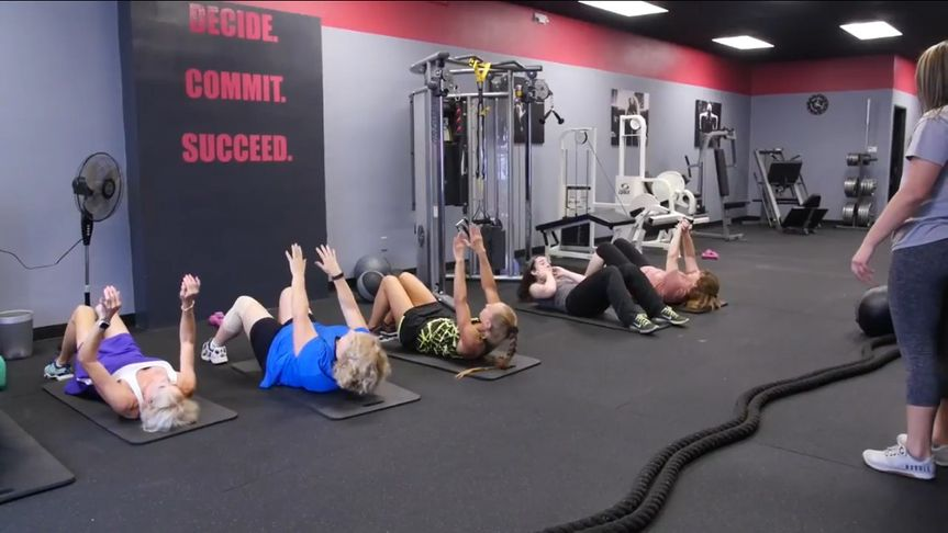 group crunches