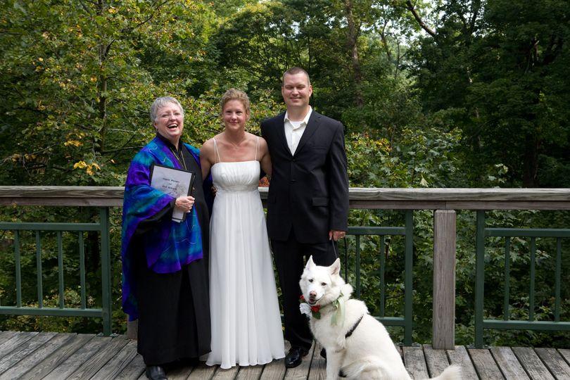 Beautiful wedding with dog