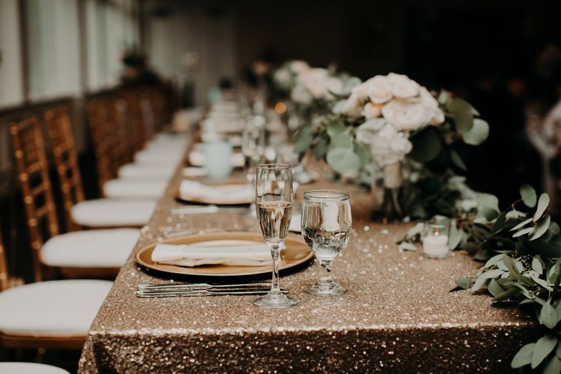 Head table place setting