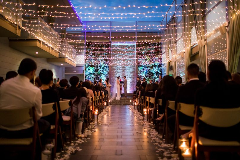Warm wedding lights