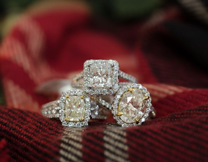 Three crystal rings