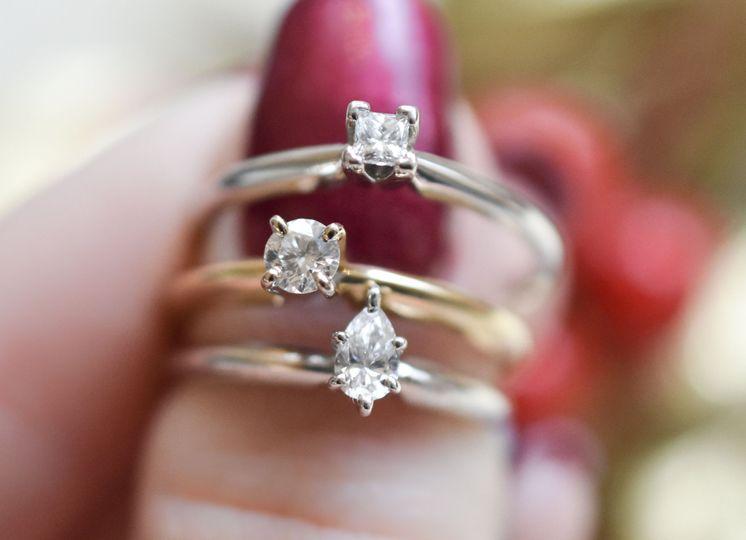 Three slim rings