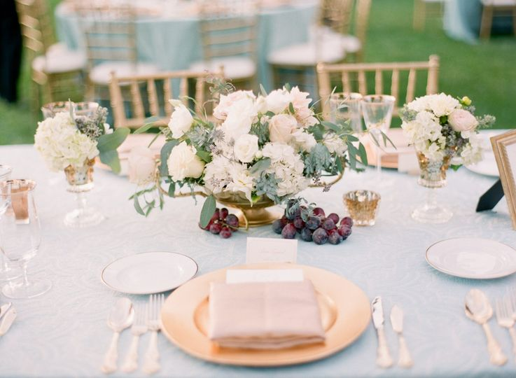 Beautiful tablescapes at Chateau St. Jean, Sonoma
