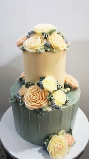 Two colored cake