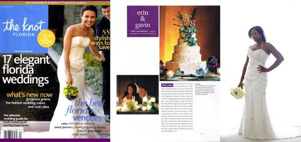 Beatiful Bride Erin Features in The Knot Magazine Winter Edition