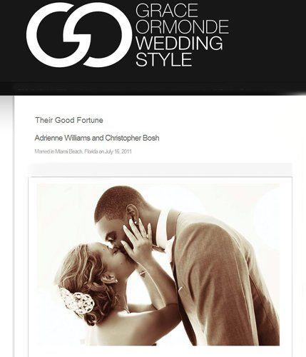 Chris and Adrianne Bosh, wedding in Miami Beach. Grace Ormonde article