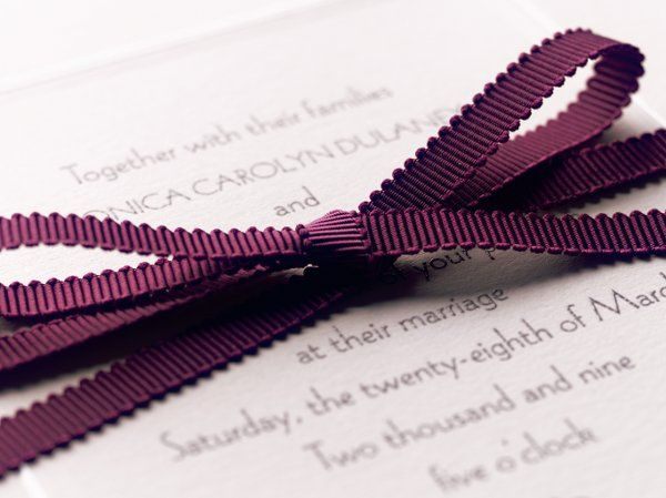 Use ribbons, second ink colors or envelope lining to incorporate a touch of color.