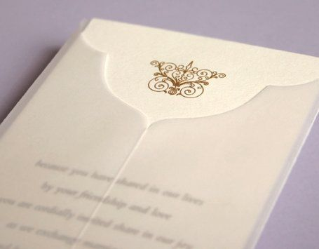 Beautiful and Classic invitation updated with a wrap.  Check out the pocket and sleeve options too!