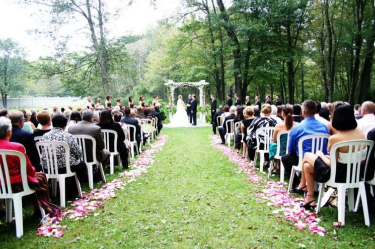 Outdoor wedding ceremony -  juliet salzman photography