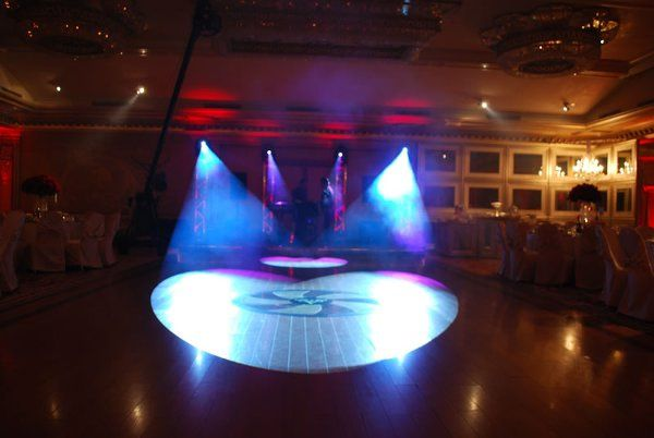 Four Intelligent Movers being used as Spots for the main wedding dance @ Anoush Banquet Hall in...