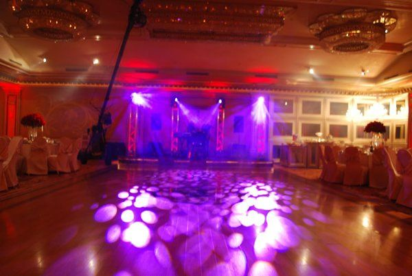 Four Intelligent movers used for subtle gobo projection on dancefloor @ Anoush Banquet Hall in...