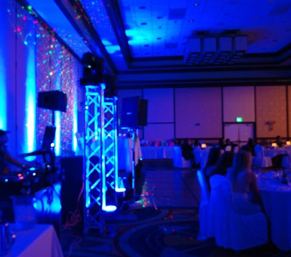 Quincenera Lighting Setup @ LAX Marriott.