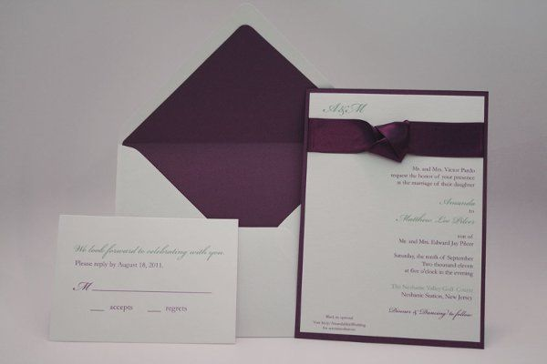 Tmx 1331301017087 Purple Bernardsville wedding invitation