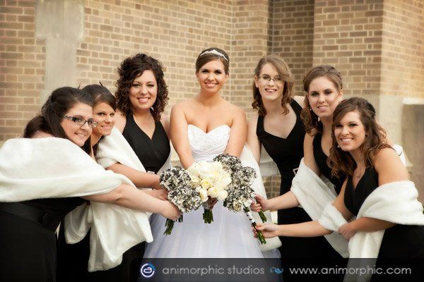 Entire Wedding Party has Airbrush Makeup Application