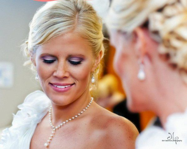 Airbrush Makeup Application on Bride