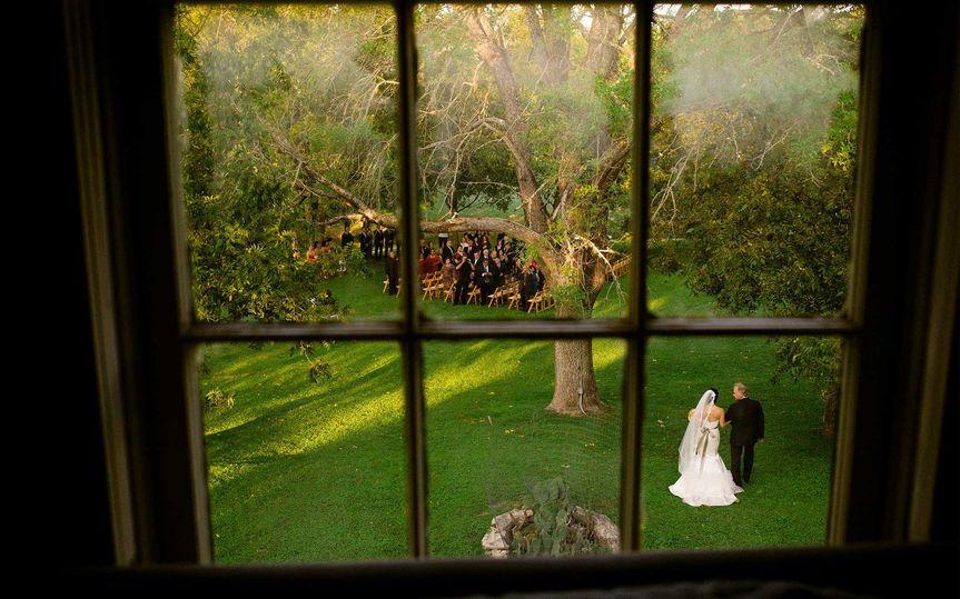 shot through a window at don strange ranch texas a
