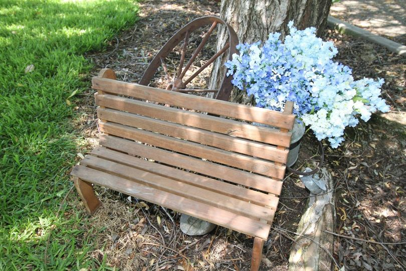 Bench and flowers