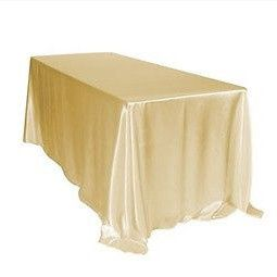 Tmx 1467914734226 Satin Champagne Rectangle Tablecloth Merced, CA wedding rental