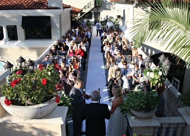ceremony view from alter