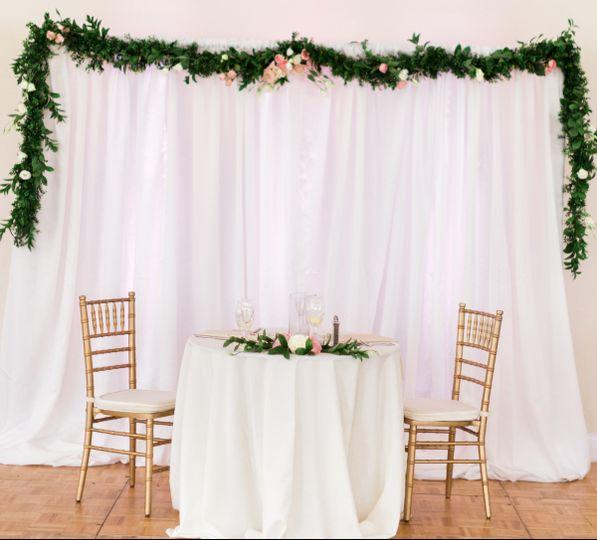Head table and decor
