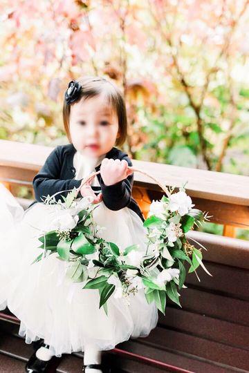 Hoop bouquet flower girl
