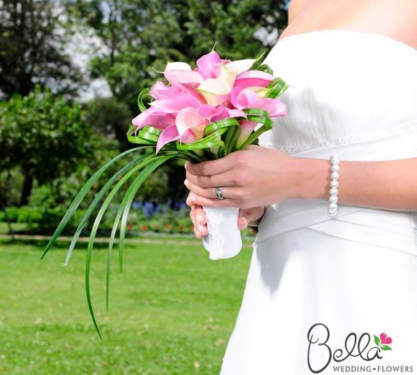 Pre-Arranged calla lily bouquet by Bella Wedding Flowers. We can ship this direct to your doorstep...