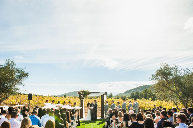 Outdoor ceremony in the vineyard