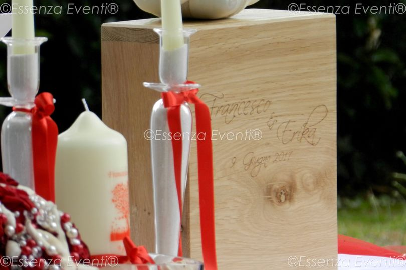 Wooden Box Unity Candle