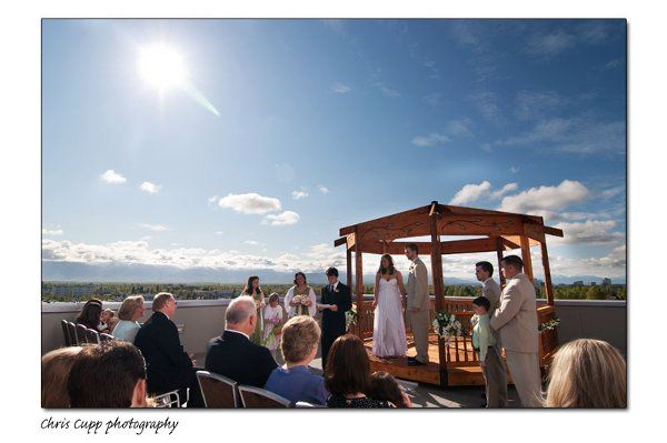 Wedding Ceremony on the Terrace.  Photo by Chris Cupp