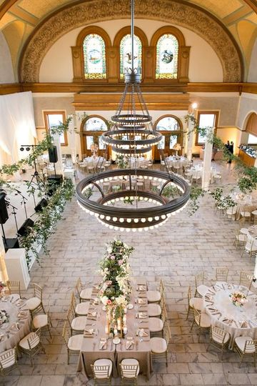 Lovely reception arrangement
