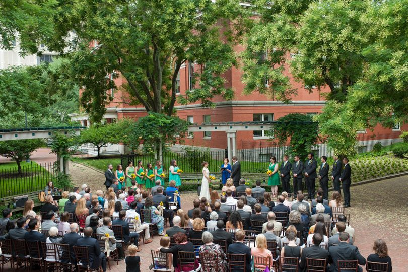Meaghan and Kevin's wedding at the Cambridge Multicultural Arts Center included a large wedding...